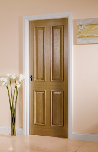 4 Panel Oak Bolection Mouldings Interior Door